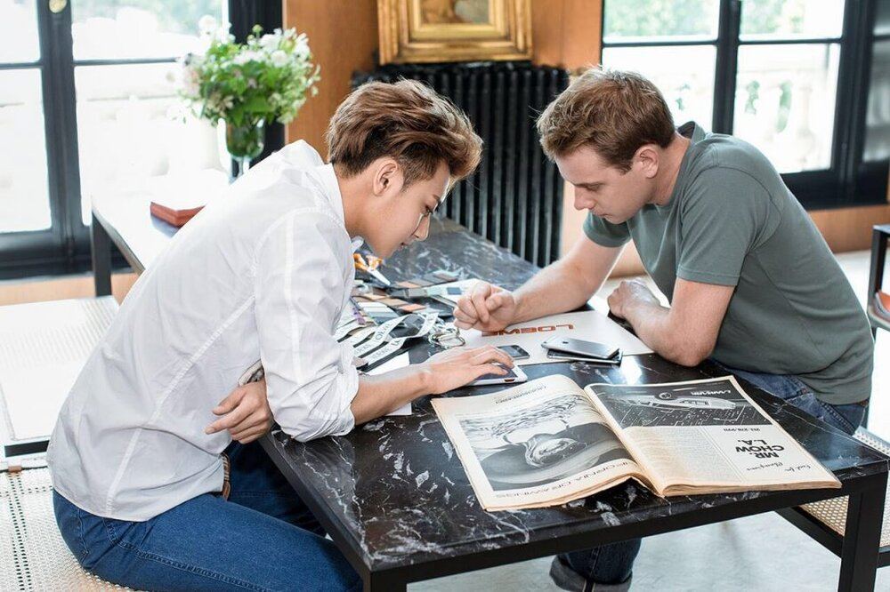 Jonathan Anderson collaborating with Chinese actor-singer Huang Zitao (Image: PR)