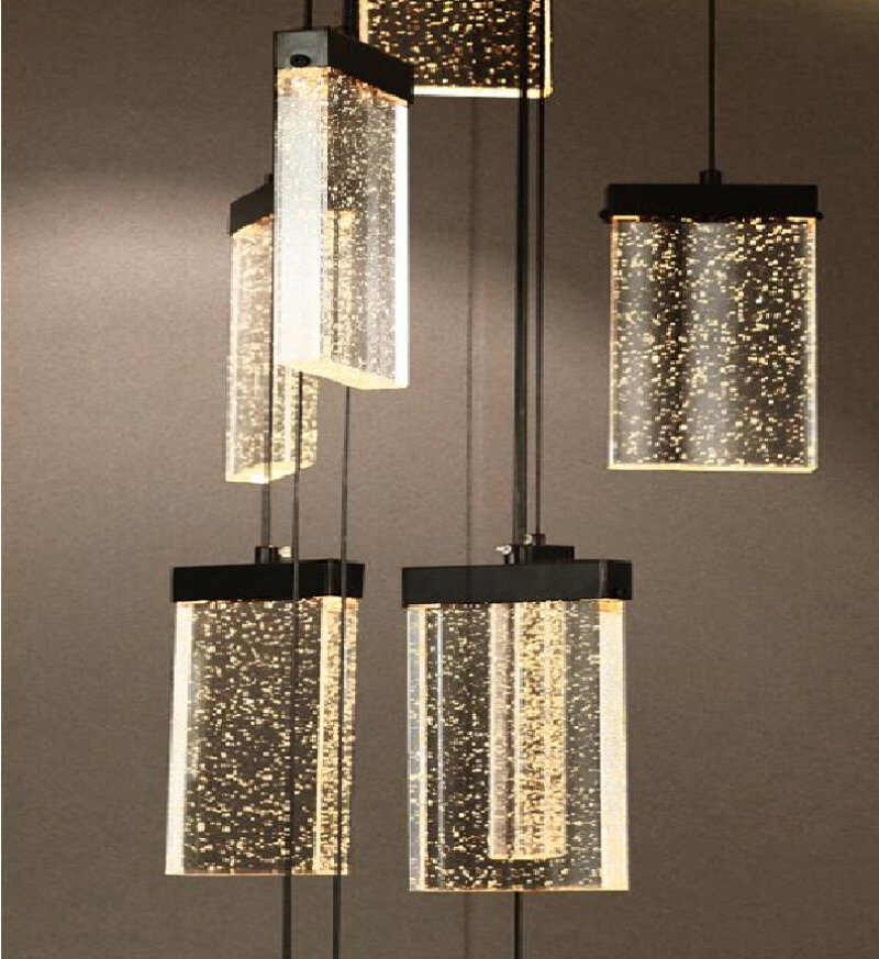 Gold Bars Stairway Pendant Lights