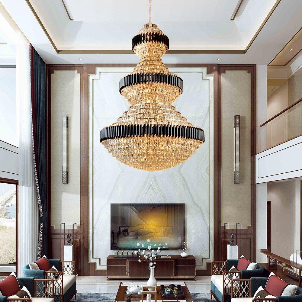 Large Luxury Foyer Crystal Chandelier