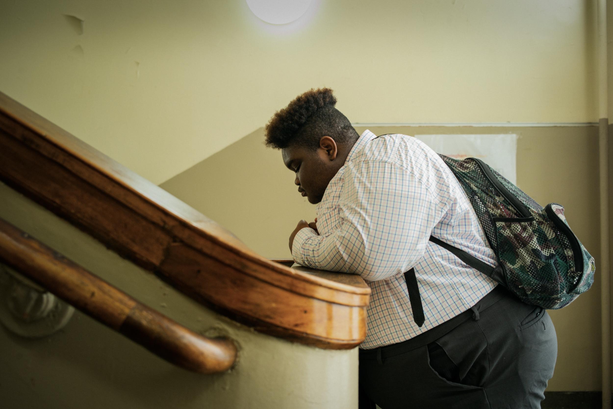 Keion, student at Ramsay High School; Photo by Jordan Mahy