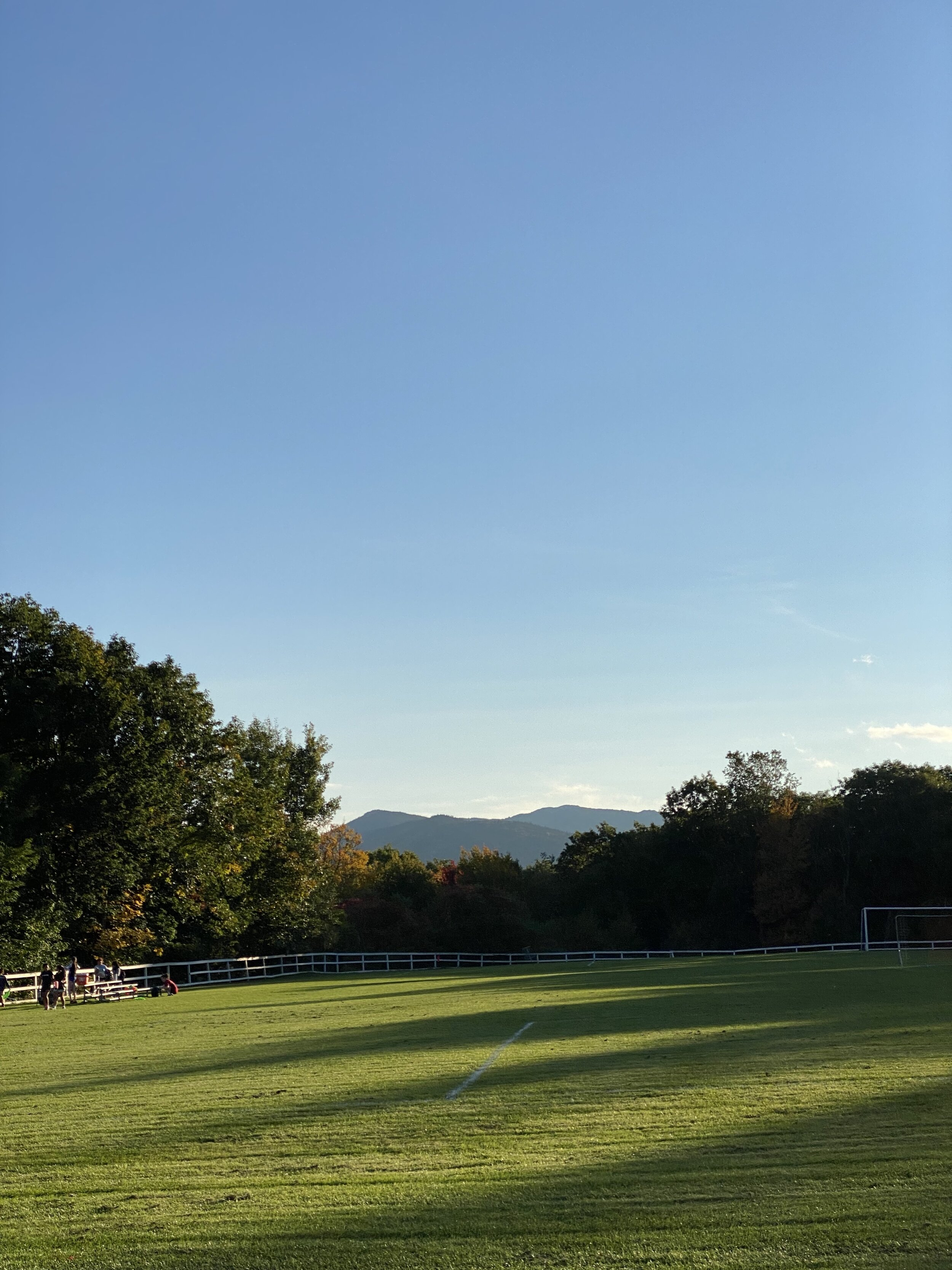 Memorial Field and Mount Monadnock the day before the big game.