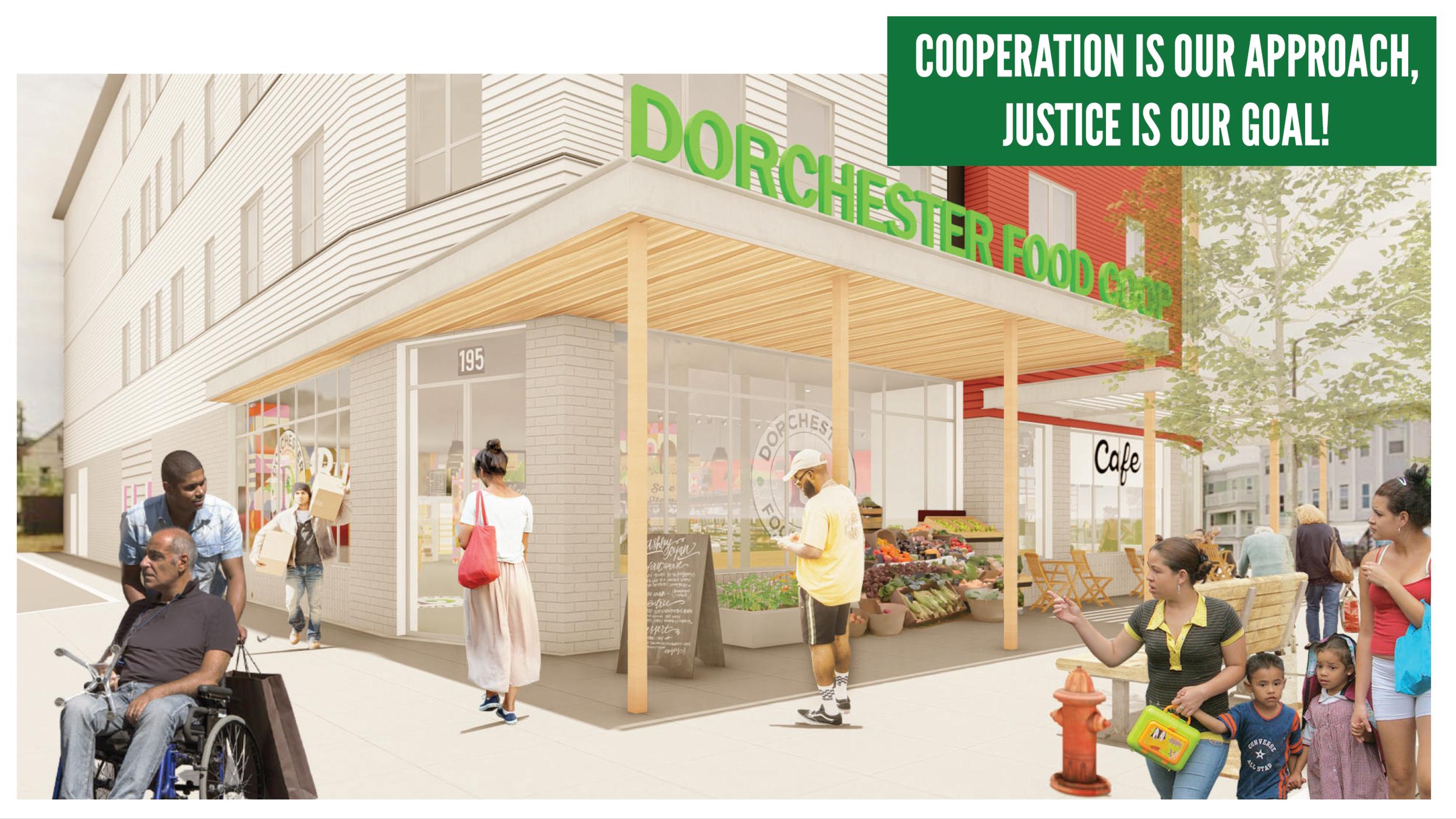 鲍登街195号店铺入口的效果图. 说明只有. 该商店目前尚未建成或收购.