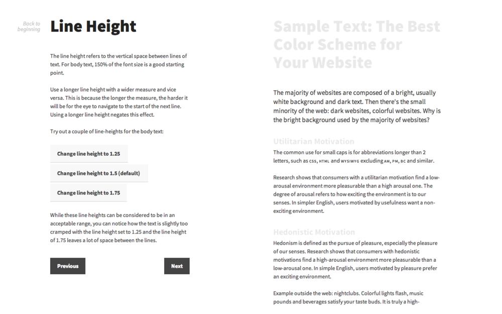 Interactive guide screenshot