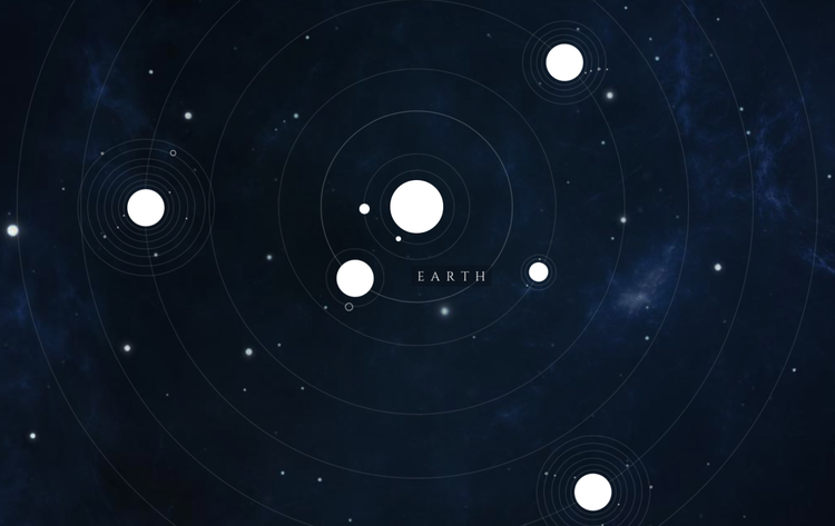 Our Solar System in HTML & CSS