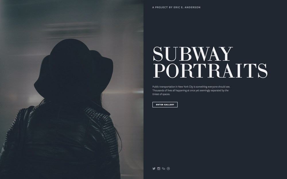 Journal using squarespace cover pages for your photography portfolio esquaredaproject subway portraits sciox Choice Image