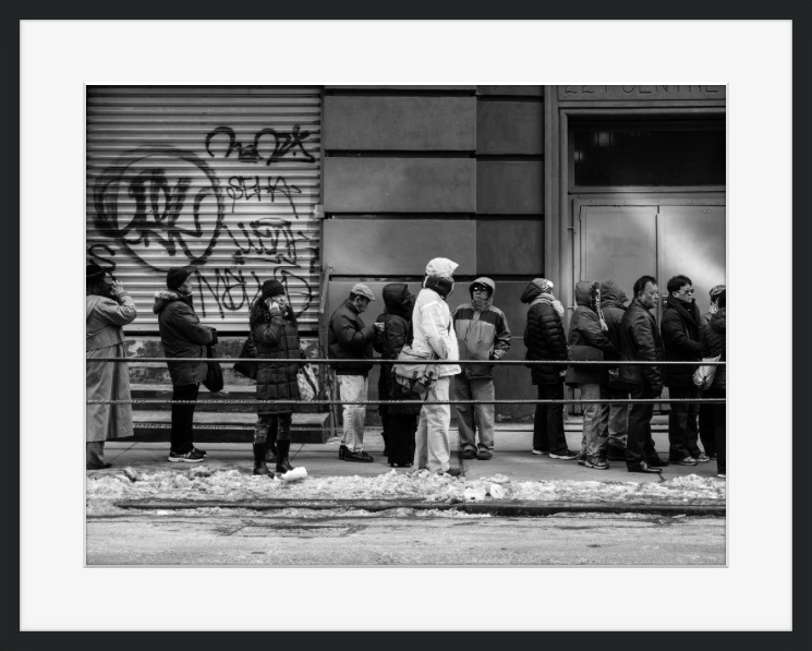 Queue for Buddha by Eric E. Anderson   Crated