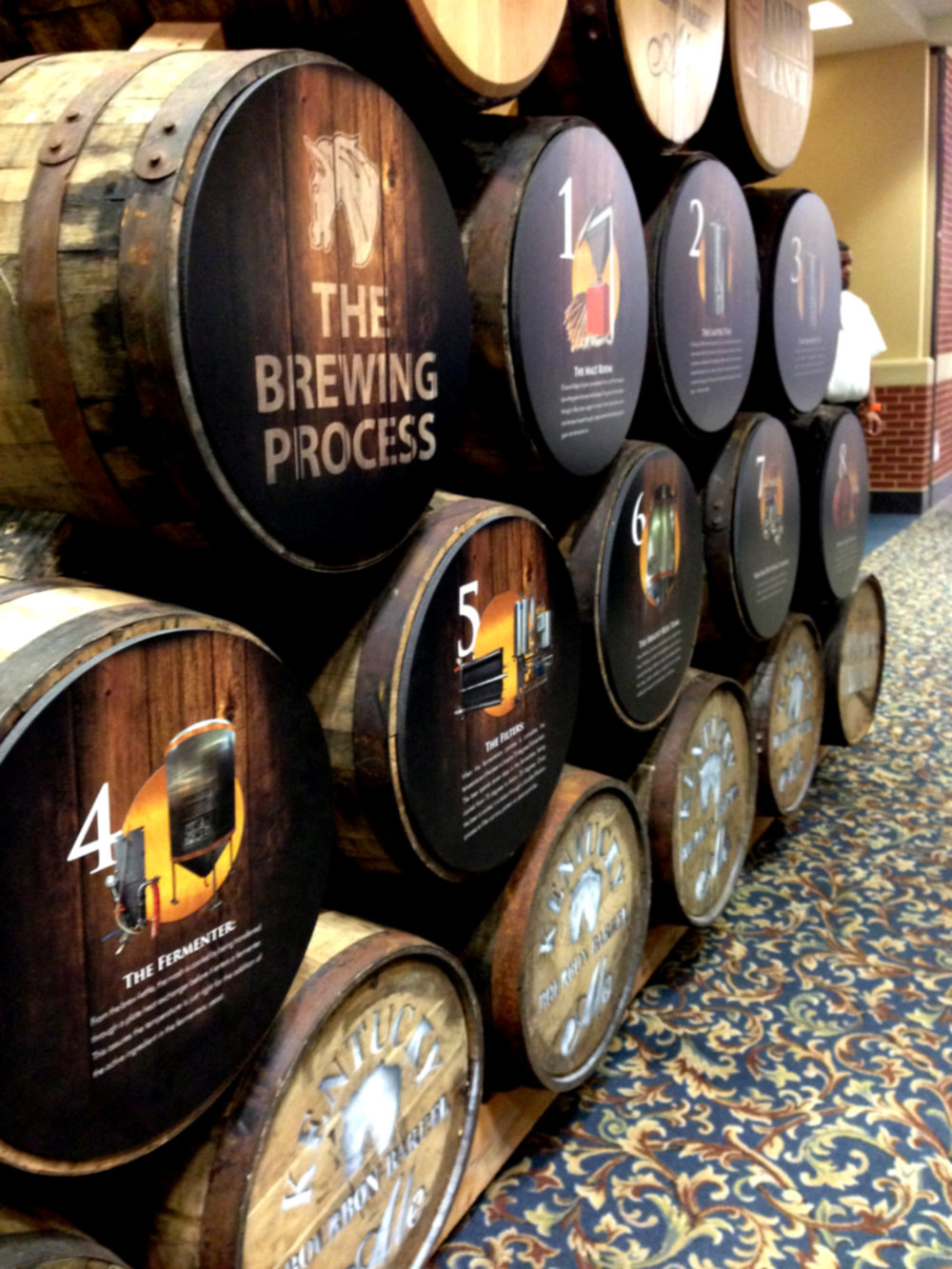 Barrels illustrating the brewing process for Kentucky Bourbon Barrel Ale (Alltech Craft Brews and Food Fest 2014)