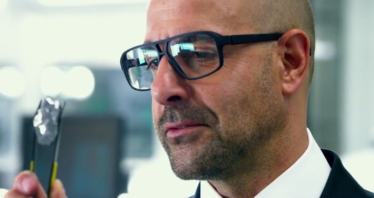 Joshua Joyce (Stanley Tucci) holding transformium in Transformers: Age of Extinction / via Paramount