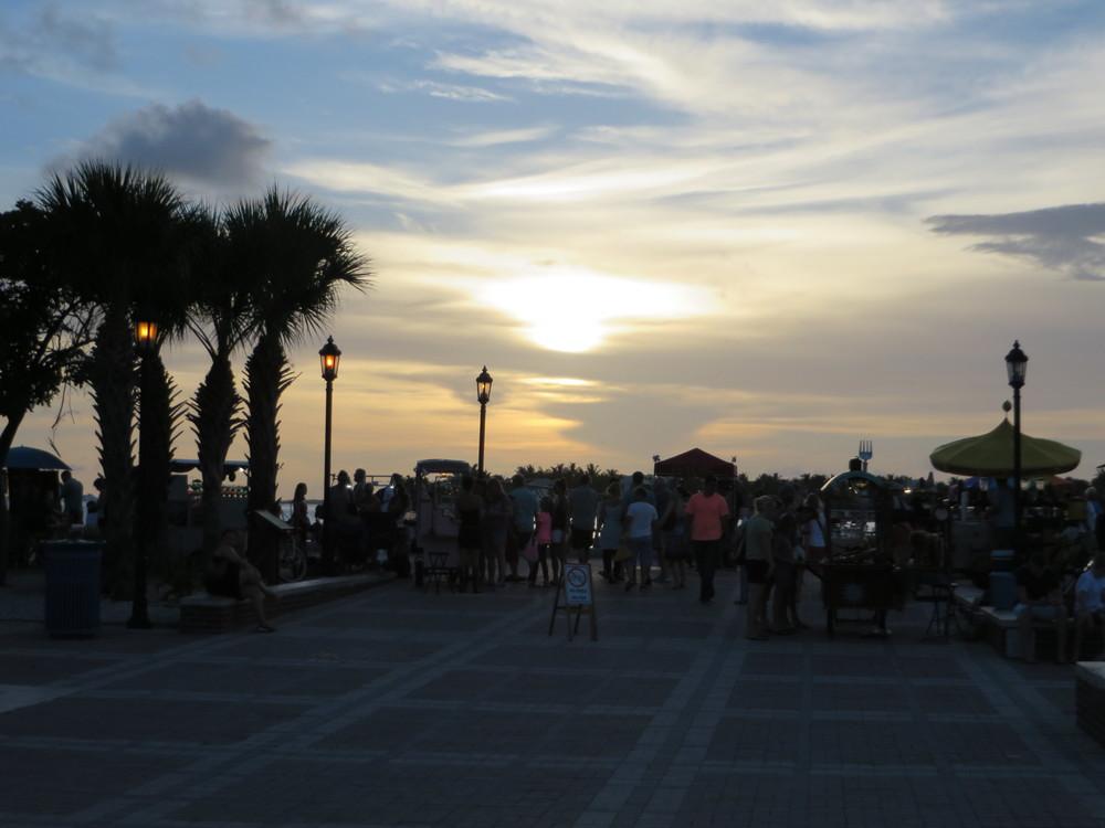 Sunset Pier, Key West, FL.