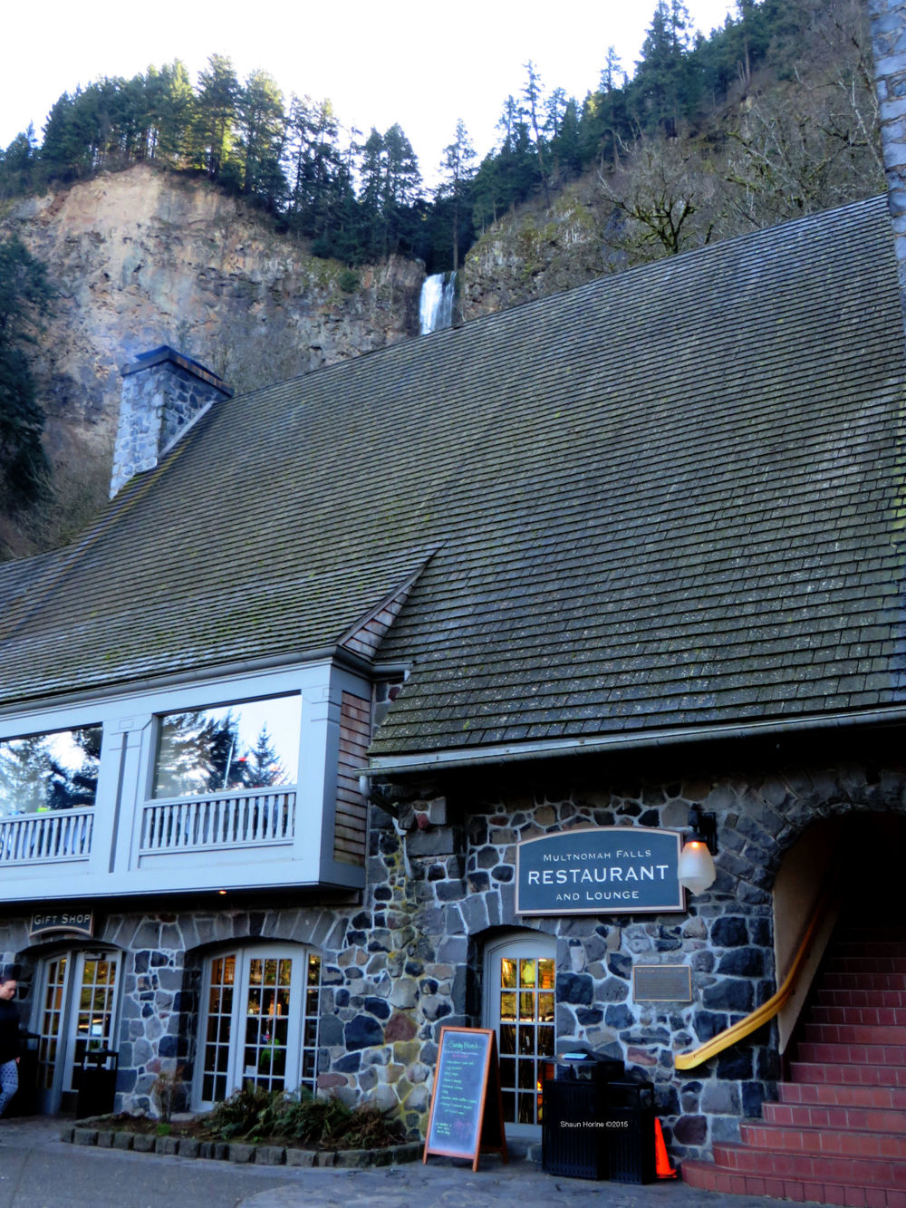Multnomah Falls Restaurant and Lounge (at the Lodge). March 1st, 2015