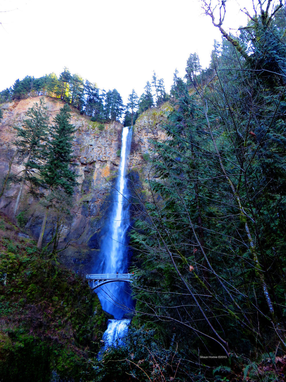 Multnomah Falls heading up to the bridge. March 1st, 2015