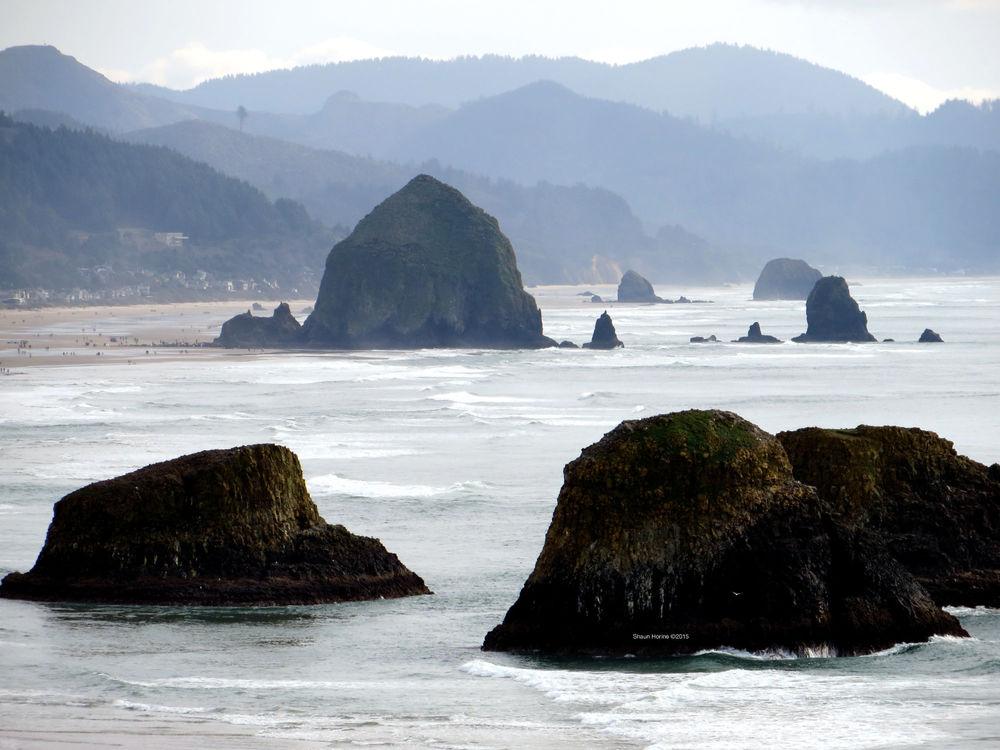 """""""Goonies Rock"""" near Canon Beach on the Oregon coast. March 1st, 2015"""