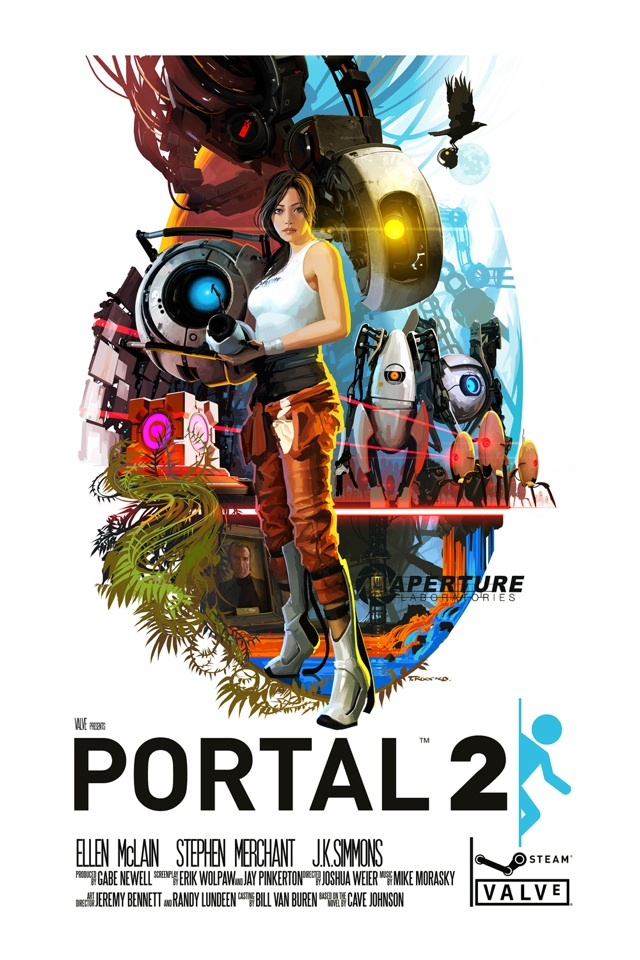 laughingsquid :      Portal 2 as a 1970′s Movie Poster