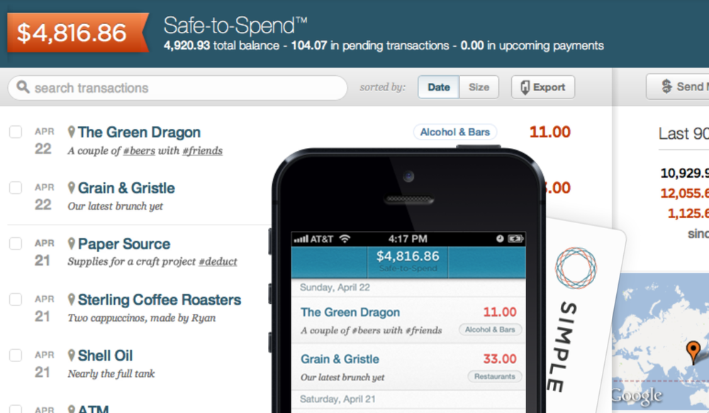 """Simple's """"Safe to Spend"""" recognizes the way people actually want to use their money."""
