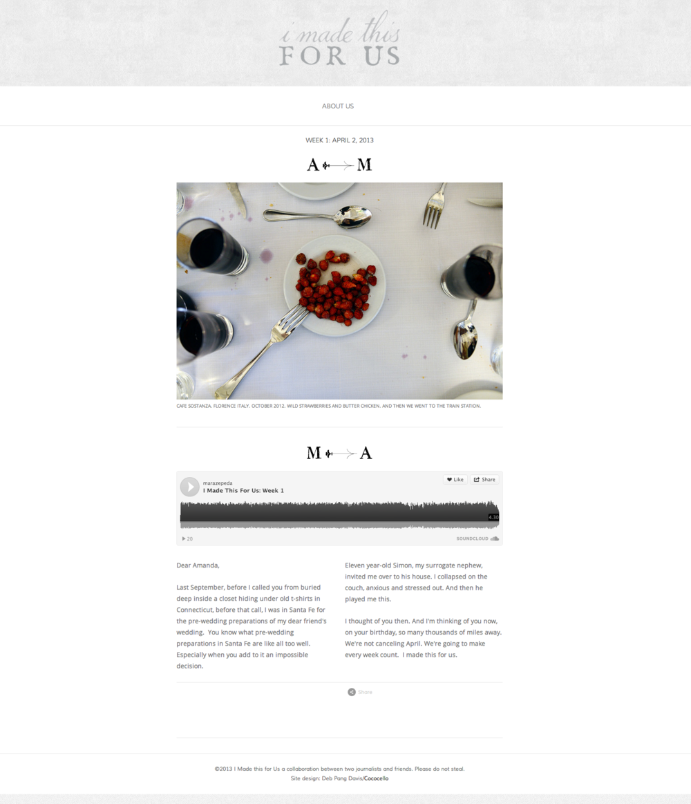 Squarespace website design for photographer Amanda Lucier and radio reporter Mara Zepeda.