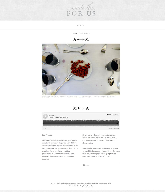 Squarespace website design for photographer Amanda Lucier and radio reporter Mara Zepeda.