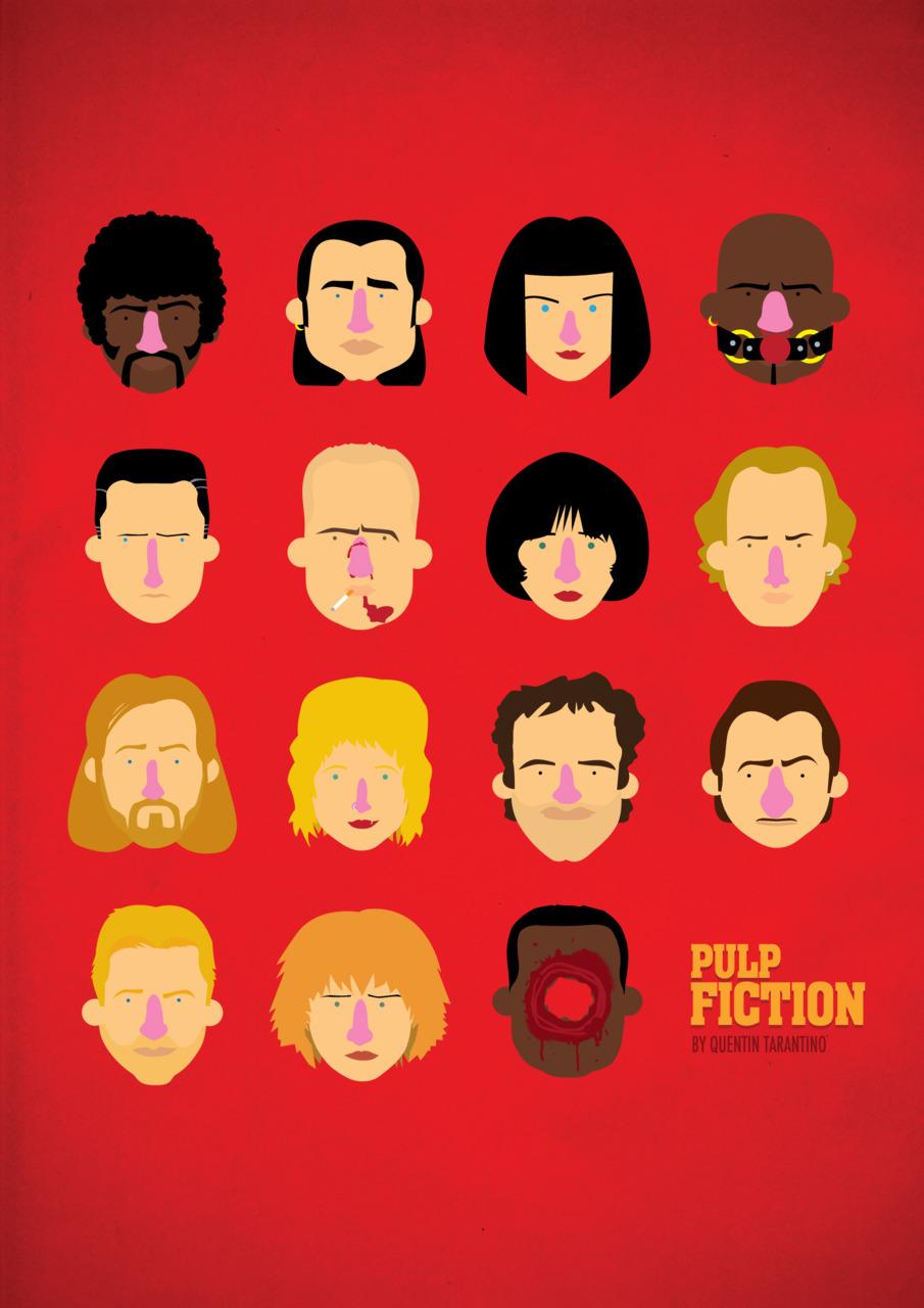 Pulp Fiction poster by Olaf Cuadras