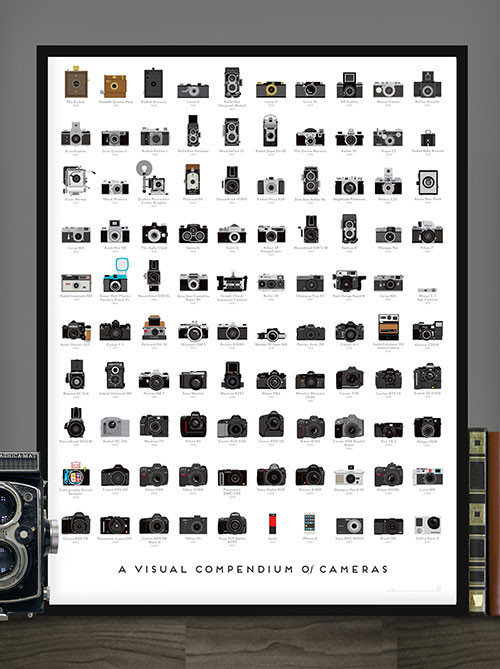 Pop Chart Lab's A Visual Compendium of Cameras poster.