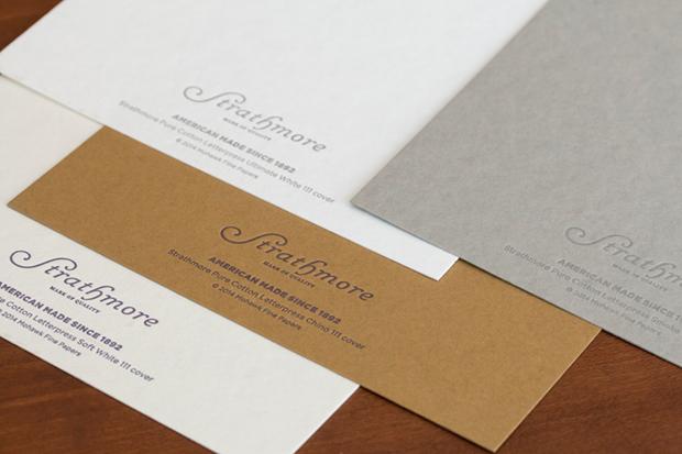 Strathmore cotton letterpress printing paper (image via mohawkconnects.com)