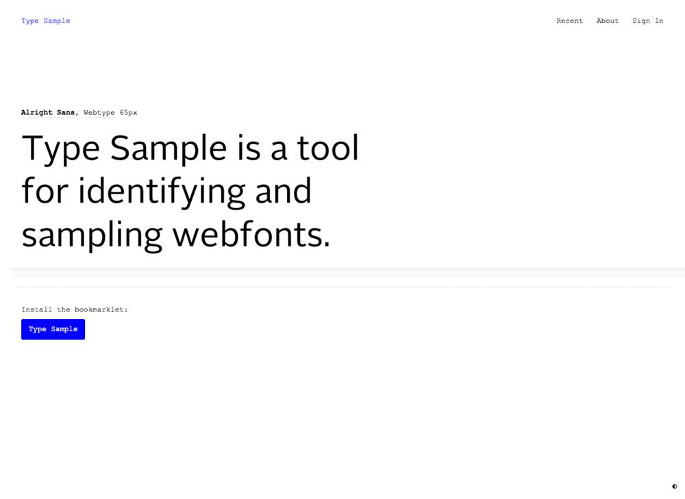 screengrab from typesample