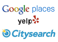 Local Business Review Websites Google Places, Yelp and Citysearch