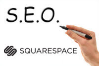 Squarespace page title