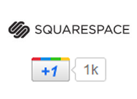 Adding Google +1 to Squarespace