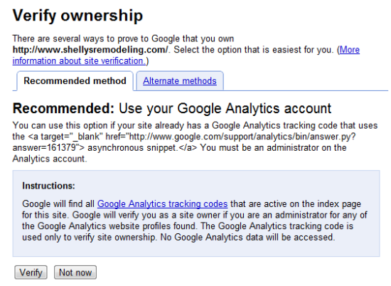 Verify GWT through Google Analytics