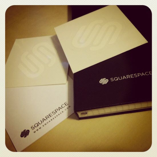 Jason Barone won a Squarespace notebook and stickers.