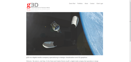 Squarespace website g3d