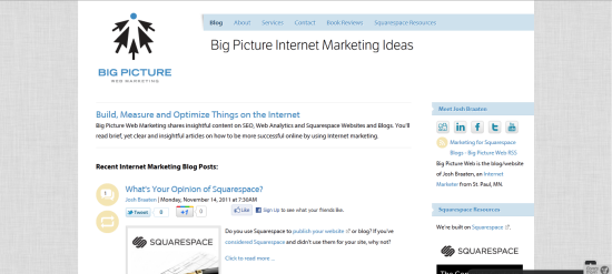 BigPictureWeb.com is a Squarespace website