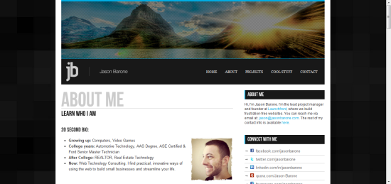 JasonBarone.com Squarespace review