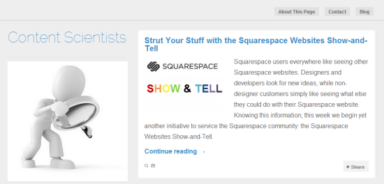 Squarespace blog import results
