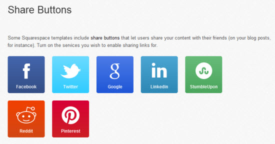Squarespace 6 social media buttons