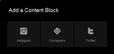 Social content blocks on Squarespace 6