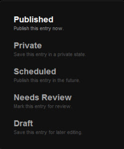 Squarespace content workflow review options