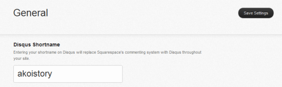 Squarespace 6 Settings for Disqus comments