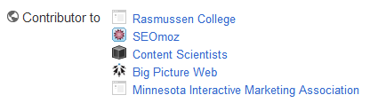 Google+ contributor list