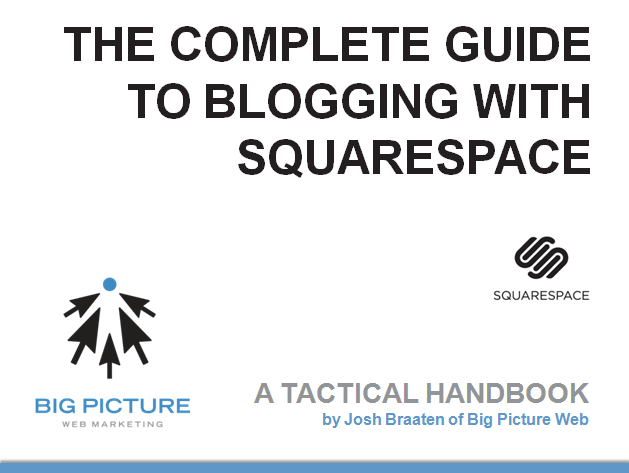 the complete guide to blogging with squarespace big picture web. Black Bedroom Furniture Sets. Home Design Ideas