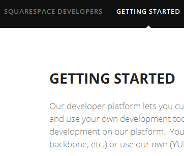 Squarespace 6 developer platform is currently in beta.