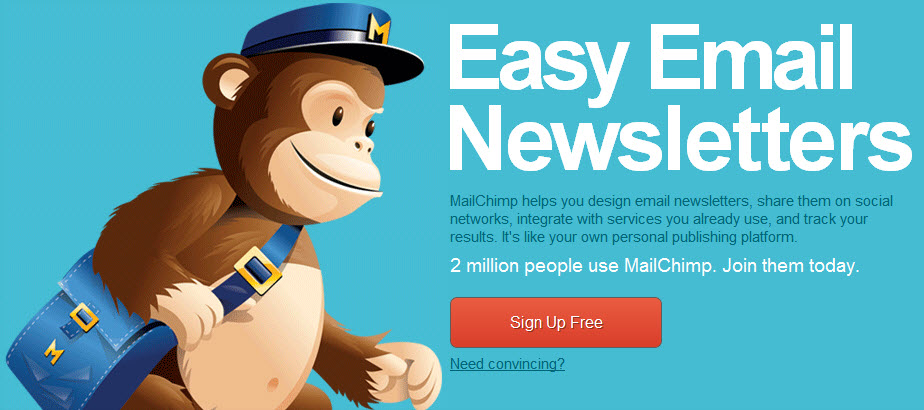 MailChimp email newsletters on Squarespace.