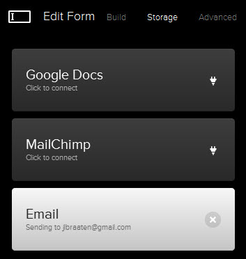 MailChimp's one-click connection with Squarespace 6.