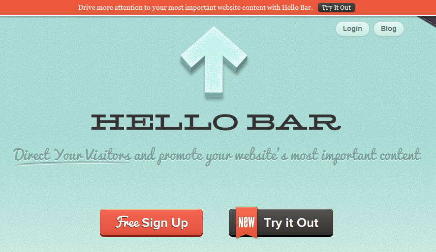 Hello Bar allows you to A/B test offers quickly on your Squarespace website.