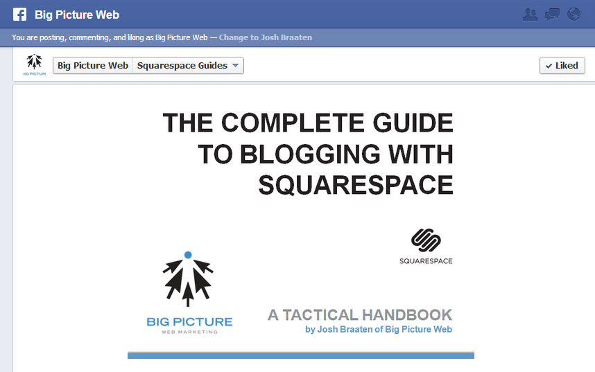 Squarespace and Facebook play nice together with your products.