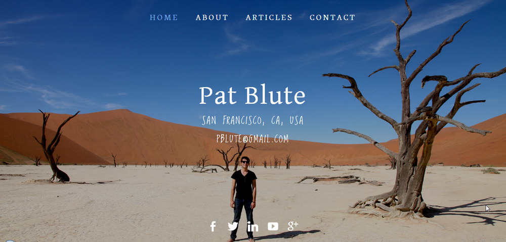 PatBlute.com is a website built using the Aviator Squarespace template.
