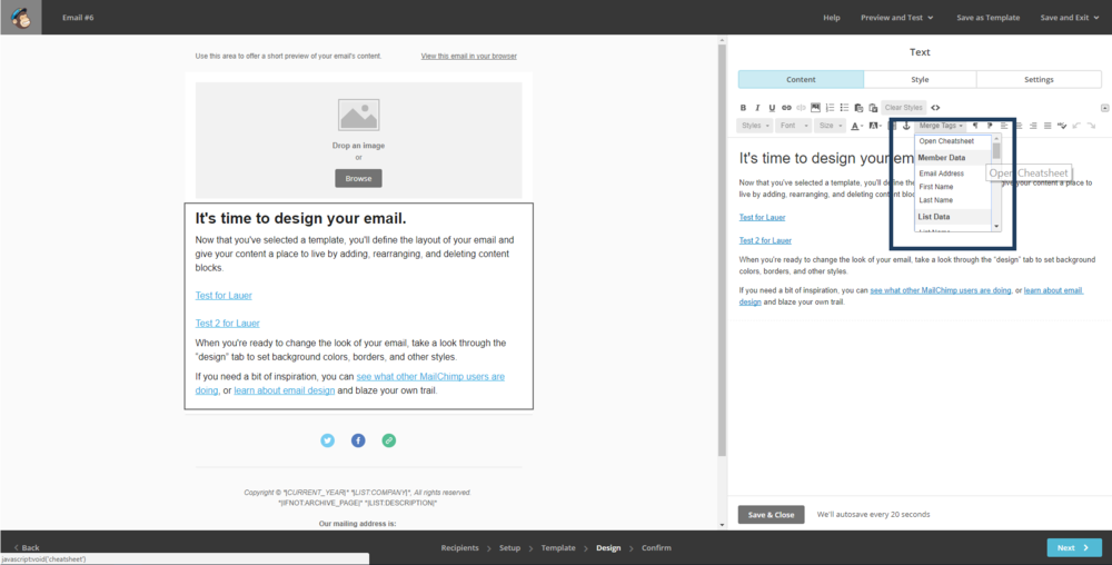 Drip Vs MailChimp Which One Will Help Grow Your Business The Most - Mailchimp template tags