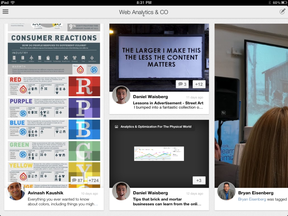The Google+ iPad app is a delightfully fluid and intuitive social content experience.