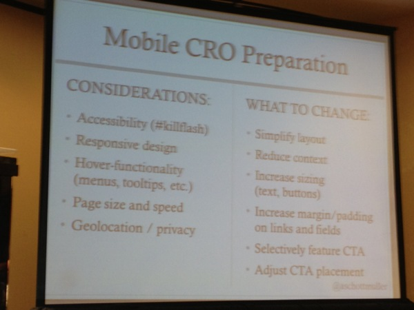 Mobile CRO takes additional consideration and preparation.
