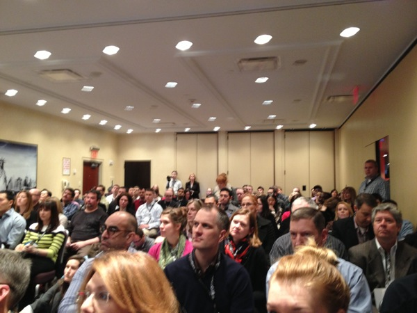 The room was packed for the LPO session at SESNY.
