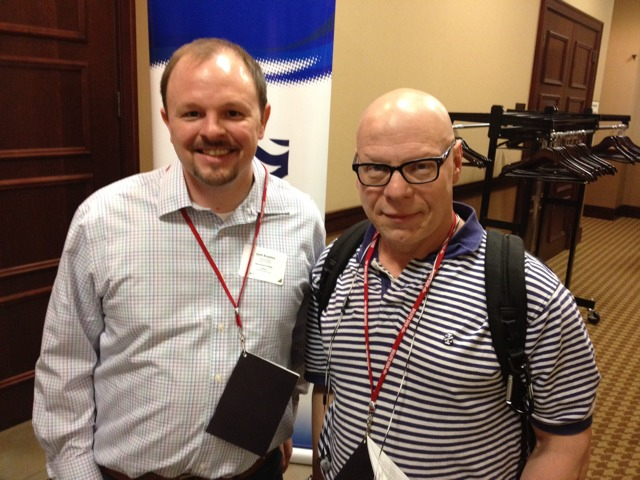 SocialCon organizer and Aimclear Founder and Evangelist, Marty Weintraub with Josh Braaten.